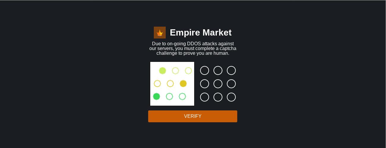 Empire Market Captcha Page