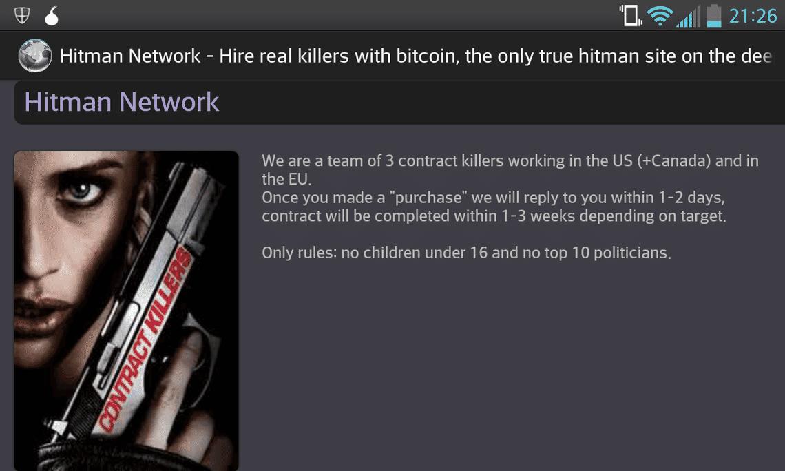 Darkweb Hitman