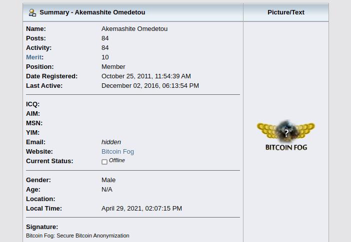 Bitcoin Talk Bitcoin Fog